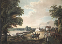 A View from Hampton on Thames - up the river